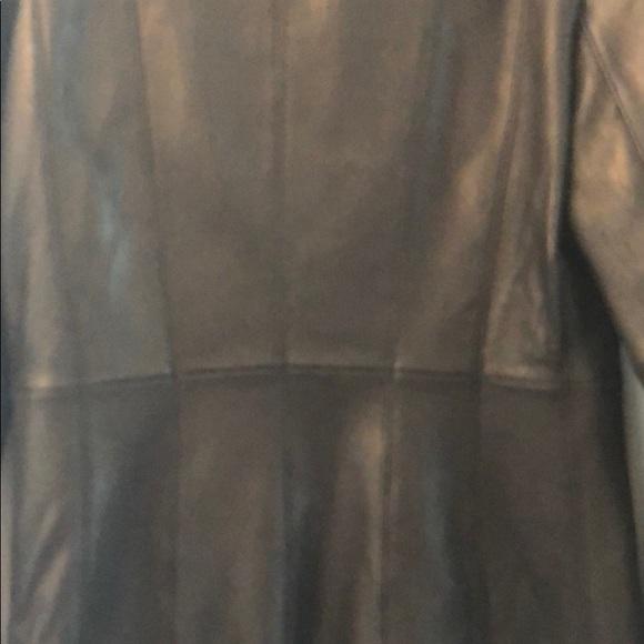 LN Nine West leather coat